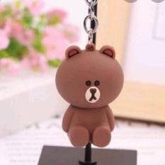 Móc khóa thỏ gấu Line Friends Hàn Quốc dễ thương Kích thước cao khoảng 4,5 cm (không gồm phần móc khóa)