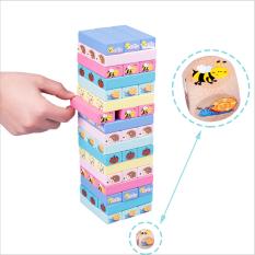 Bộ đồ chơi rút gỗ, đồ chơi gỗ thông minh, trò chơi rút gỗ Wiss Toy 51 thanh gỗ tự nhiên, game rút gỗ nhiều màu sắc và hình thù cho bé vừa học vừa chơi