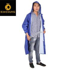 Áo mưa măng tô nam cao cấp, vải dù siêu nhẹ (mẫu có dây kéo và nút gài) (Được chọn size 2XL, 3XL – Được chọn màu)