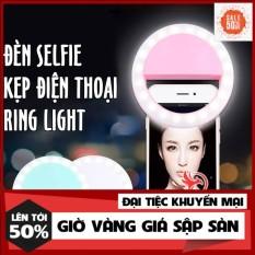 Đèn led chụp ảnh selfie tự sướng kẹp điện thoại ring light hỗ trợ quay tiktok livestream dùng pin