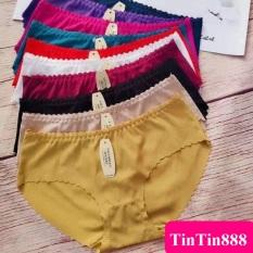 Bộ 10 quần lót nữ su gân tăm, thoáng mát, phom quần ôm mông, tôn dáng, quần chíp, quan lot mẫu mới – TinTin888