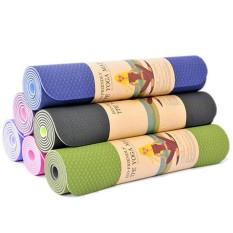 Thảm Tập Yoga, Thảm Yoga, Thảm Tập Gym 2 Lớp Dày 6mm Chính Hãng Amalife – Kèm Túi Đựng Thảm + Dây Buộc