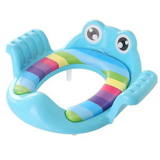 Bệ lót bồn cầu có tay vịn hình chú ếch cho bé