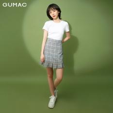 Chân váy GUMAC chân váy nữ thiết kế caro ly bèo VB173