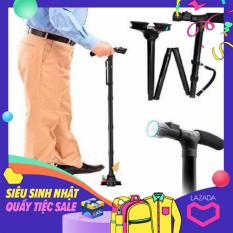 Gậy chóng trượt cho người già có đèn pin – Gậy người già