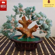 Cây phong thủy, cây tài lộc đá tự nhiên Thạch Anh xanh