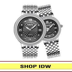 [Có video quay thật] Đồng hồ nam nữ dây thép không rỉ cao cấp Nary IDW S0661 (Nhiều màu lựa chọn)