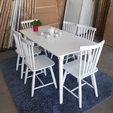 Bàn ghế ăn song tiện 1 bàn 6 ghế