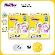 Combo 2 tã dán Unidry gói Super Jumbo size XL (62 miếng)
