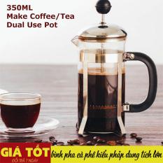 Bình Pha Cafe Kiểu Pháp 350ml (Bạc) – Bình pha cà phê french press – Dùng để pha trà hay cà phê theo phương pháp French press ép cà phê – Thiết kế tinh gọn, hiện đại – Chất liệu cao cấp