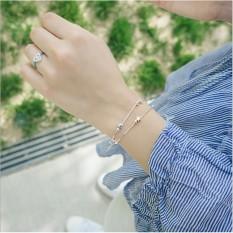 Lắc tay xi bạc nữ, vòng tay dây kép xi bạc ( 30% bạc) – lắc tay phụ kiện thời trang cho nàng xinh xắn