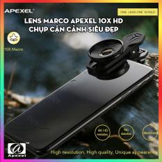 Lens siêu macro Apexel 10X 4K dành cho điện thoại dùng để chụp cận cảnh siêu đẹp