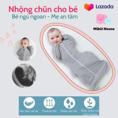 [Lấy mã giảm thêm 30%]Nhộng chũn quấn chũn ủ kén Little Tots cho bé hàng chính hãng giúp bé ngủ ngon sâu giấc chống giật mình – [Mikit-House]