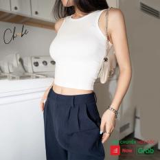 Áo croptop nữ Choobe chất cotton cao cấp, áo ba lỗ cộc tay, kiểu ôm, vải co giãn, nhiều màu sang trọng- A17