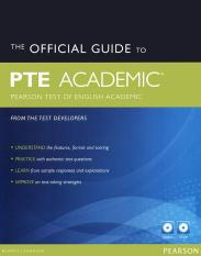 The Official Guide to PTE Academic (kèm 2 CD) (bản thường)