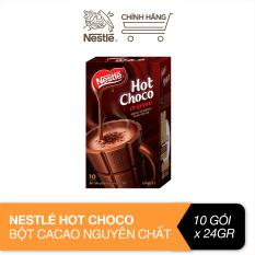 [CP10.10 – Tặng Voucher 10K] Nestlé® Hot choco® bột cacao nguyên chất (10 gói x 24g)