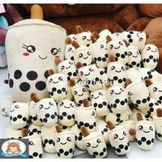 Gấu Bông Trà Sữa Nhồi Bông Vải Nhung Co Dãn 4 Chiều Siêu Mềm Mịn Dễ Thương Đáng Yêu