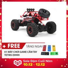 Đồ chơi trẻ em mô hình ô tô điều khiển từ xa cỡ lớn driff xe địa hình off road xe leo núi bốn bánh tốc độ cao có sạc pin 28cm màu đỏ -AL