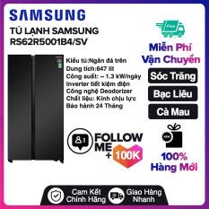 Tủ lạnh Samsung Inverter 647 lít RS62R5001B4/SV Miễn phí vận chuyển nội thành Sóc Trăng, Bạc Liêu, Cà Mau