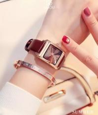 Đồng hồ nữ thương hiệu Guou LA-G8066 mặt chữ nhật có lịch xinh xăn