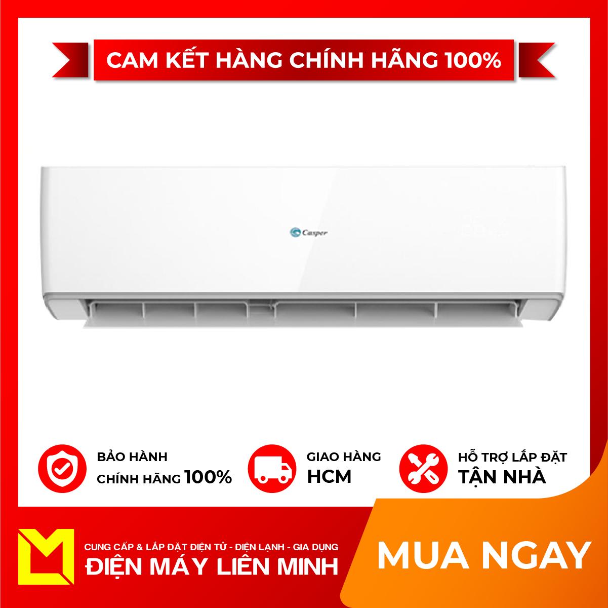 Máy lạnh Casper Inverter 1 HP IC-09TL32 – Màng lọc đa chiều Air Fresh loại bỏ vi khuẩn, bụi bẩn tối đa Loại bỏ bụi bẩn với chức năng tự làm sạch thông minh iClean Dàn tản nhiệt bằng đồng làm lạnh hiệu quả, tăng tuổi thọ