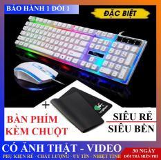 [Nhập ELJAN11 giảm 10%, tối đa 200k, đơn từ 99k][ XẢ KHO ] Bộ Bàn Phím Kèm Chuột Máy Tính Con Báo G21 Có LED 7 Màu Ấn Tượng – bàn phím bàn phím máy tính bàn phím giả cơ bàn phím chơi game cao cấp`