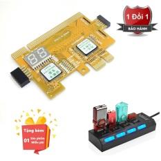 ( Quà tặng miễn phí Hub chia 4 cổng usb có công tắc ) Card test main 460 plus PCI Express cao cấp – Card test main PCI EX – Card test main đa năng hỗ trợ nhiều dòng main
