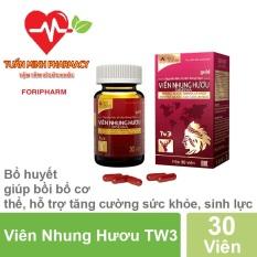 Viên Nhung Hươu TW3 – Bổ huyết, giúp bồi bổ cơ thể, hỗ trợ tăng cường sức khỏe, sinh lực (Lọ 30 Viên)