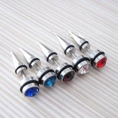 Bông tai nam, bông tai kim cương, bông Tai hợp kim không gỉ đính hạt kim cương phong cách Hàn Quốc siêu hot