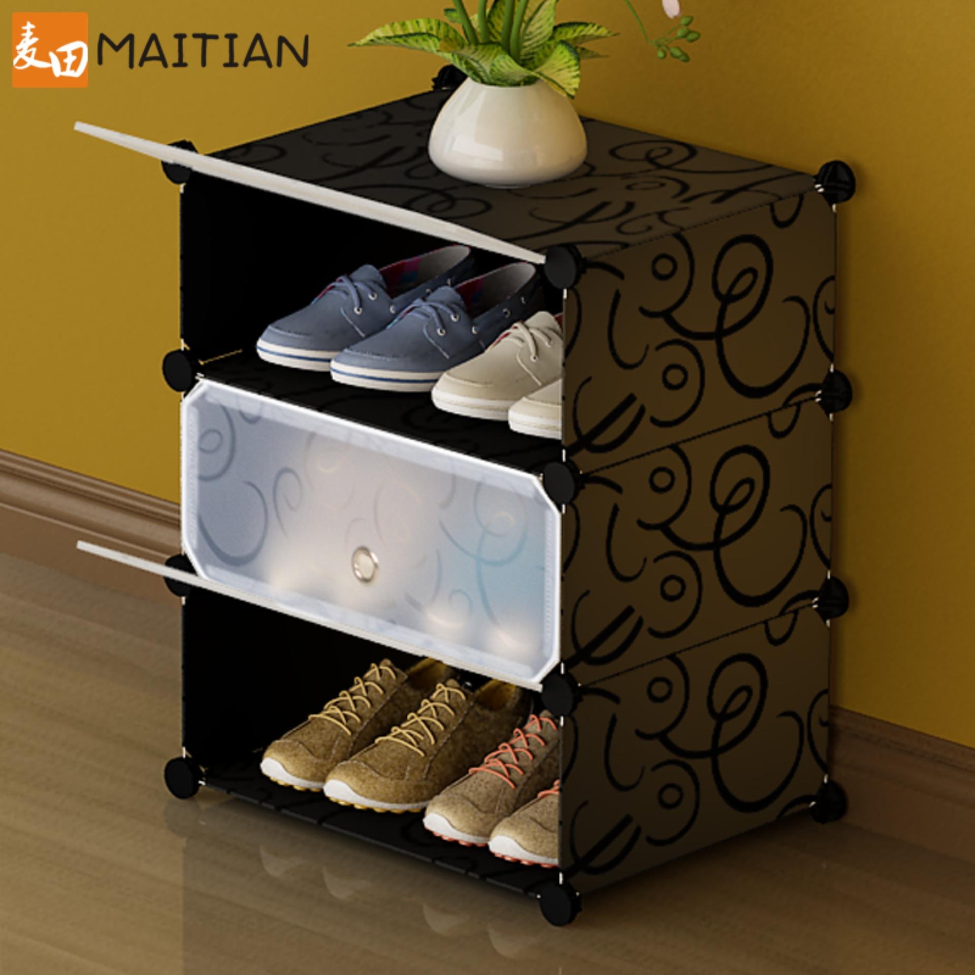 Tủ giày dép 3 ngăn cao cấp xếp gọn Tâm house gọn gàng nhà cửa G3001