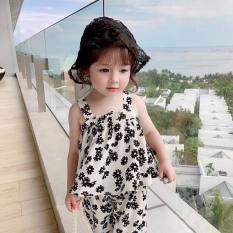 Bộ quân áo bé gái – Vải lụa 2 dây đan chéo sau lưng cực xinh