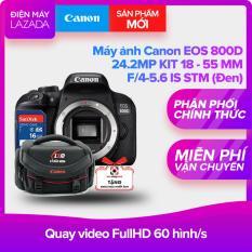 Máy ảnh Canon EOS 800D 24.2MP KIT 18 – 55 MM F/4-5.6 IS STM (Đen) – Hãng phân phối chính thức + Thẻ nhớ SD 16GB + túi đựng máy ảnh + Khóa học nhiếp ảnh
