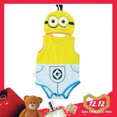Bộ Bodysuit Hình Minion cực kỳ đáng yêu cho bé trai và gái – BDS08- Mihababy