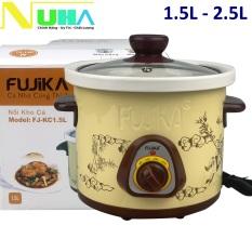 [Chọn Phân Loại]Nồi nấu chậm 1.5L-2.5L Fujika FJ-KC15/KC25 dùng để hầm cháo em bé chưng yến kho cá giữ được hương vị của thức ăn màu ngẫu nhiên – Dự kiến giao 24/6
