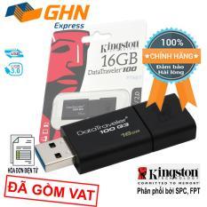 USB lưu trữ siêu tốc Kingston 16GB 100G3 chuẩn 3.0 80MB/s (màu đen) phân phối bởi SPC, FPT, Viết Sơn