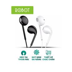 [Bảo Hành 12 Tháng] Tai nghe có dây ROBOT RE10 Âm bass mạnh mẽ chất lượng âm thanh HD nghe nhạc chơi game có micro đàm thoại – Hàng chính hãng
