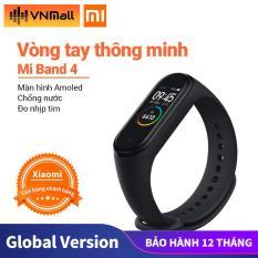 [Global Version] Đồng Hồ Xiaomi Mi Band 4 Đen, Chống Nước 5ATM, Kính Chống Trầy, Cảm Biến Nhịp Tim
