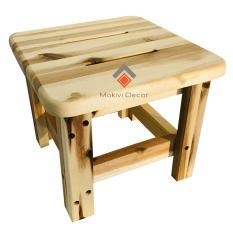 Ghế gỗ tràm vuông – ghế đôn cafe – ghế gỗ cafe bệt – ghế ngồi cho Bé