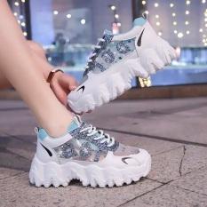 Giày thể thao nữ độn đế kim tuyến mã 100, giày sneaker nữ thoáng khí hot trend 2020