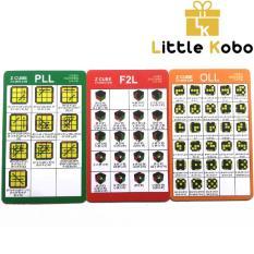 Bộ Card Công Thức CFOP Giải Rubik Tốc Độ Cao Công Thức F2L OLL PLL