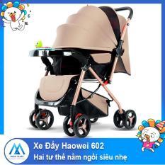 Xe nôi xe đẩy em bé hai chiều Haowei 602 hai tư thế nằm ngồi siêu nhẹ có thể gấp xách tay cho bé 0-3 tuổi -AL