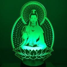 Đèn led hình PHẬT MẸ QUAN ÂM Đèn thờ mẹ quan âm đèn để xe ô tô đèn ngủ. Đèn led khắc hình theo yêu cầu đèn khắc hình cá nhân.