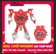 OutFlety Đồng Hồ Điện Tử Dành Cho Trẻ Em 3-5 Tuổi Biến Hình Robot 2 Trong 1
