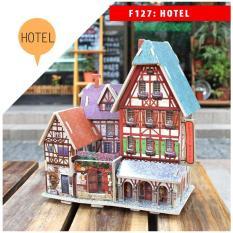 Mô hình nhà gỗ DIY Mẫu các công trình nhà nổi tiếng thế giới, chất liệu gỗ, lắp ghép theo khớp Robotime