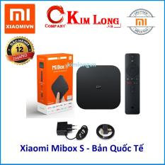 Android TV Box Xiaomi Mibox S 4K HDR Quốc Tế Tiếng Việt- Hãng phân phối