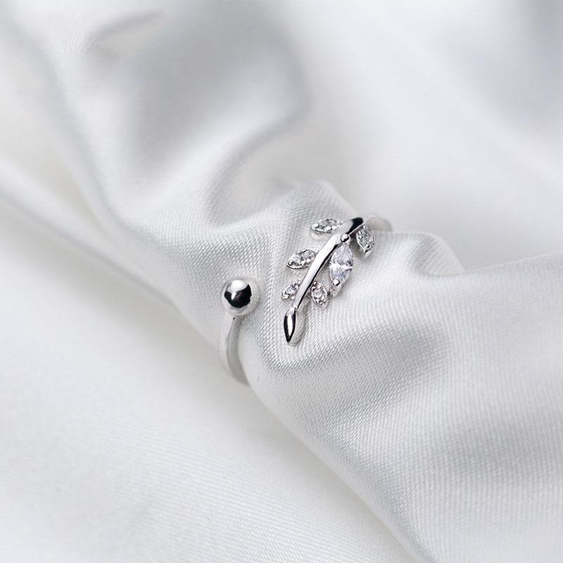 Nhẫn Bạc | Nhẫn Bạc Nữ Thiết Kế Hình Chiếc Lá Tinh Tế Dành Cho Phái Đẹp N2453 – Bảo Ngọc Jewelry