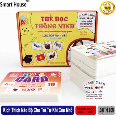 Bộ 256 Thẻ Học Thông Minh Loại Lớn Song Ngữ Anh Việt – Bộ Thẻ 18 Chủ Đề Phương Pháp Phát Triển Não Bộ Cho Bé