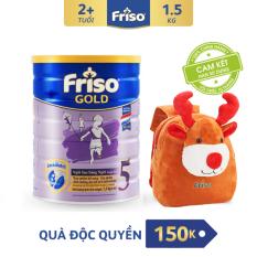 [Freeship toàn quốc] Sữa bột Friso Gold 5 1.5kg + Tặng Balo Tuần lộc Noel cho Bé trị giá 150K(Vanilla 1.5kg 1)