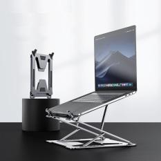 Đế nâng laptop 2 tầng chỉnh độ cao gấp gọn hợp kim nhôm tản nhiệt đa năng cho Macbook và máy tính xách tay SSKY P7