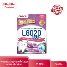 Viên Ngậm Lợi Khuẩn Ngừa Sâu Răng L8020 Chuchu Baby Vị Nho 90 Viên